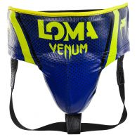 Venum Pro Boxing Protective Cup Loma Edition - Velcro - Blue/Yellow