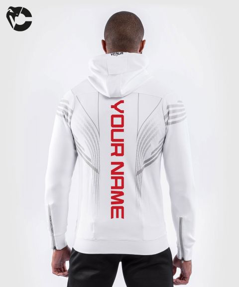 UFC Venum Personalized Authentic Fight Night Men's Walkout Hoodie - White