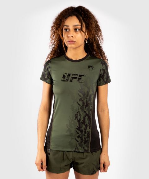 UFC Venum Authentic Fight Week Women's Performance Short Sleeve T-shirt - Khaki