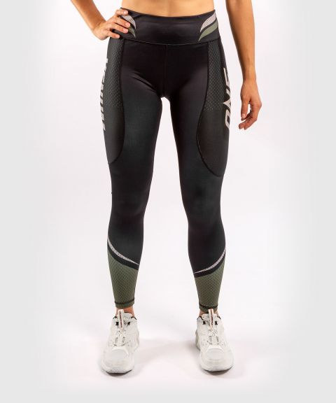 Venum ONE FC Impact Leggings - for women - Black/Khaki
