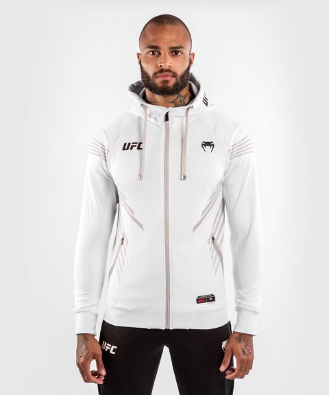 UFC Venum Authentic Fight Night Men's Walkout Hoodie - White