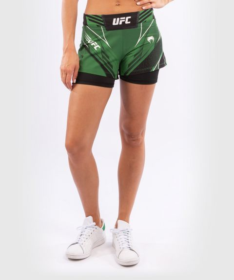 UFC Venum Authentic Fight Night Women's Shorts - Short Fit - Green