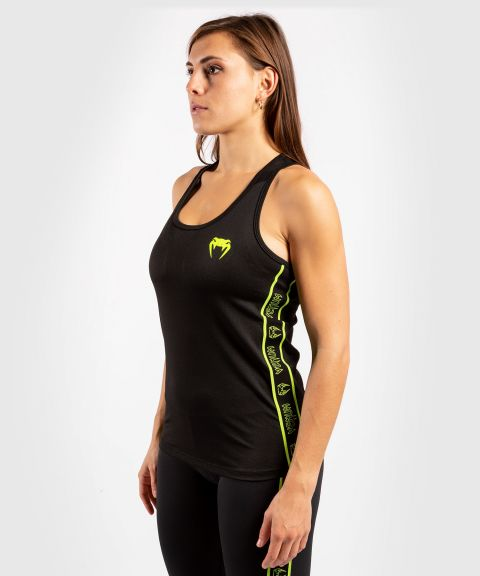 Venum Tecmo Tank Top - For Women - Black/Neo Yellow