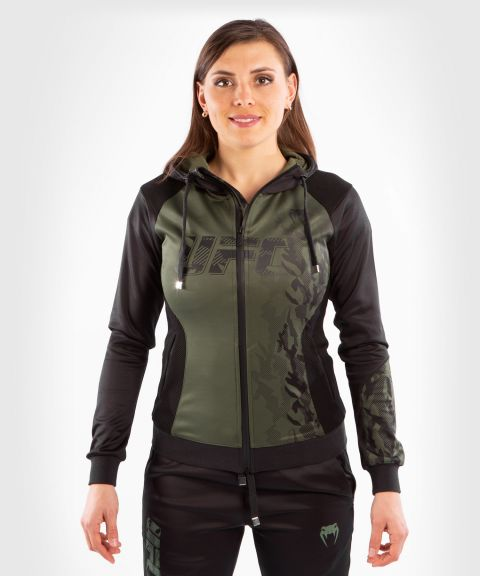 UFC Venum Authentic Fight Week Women's Zip Hoodie - Khaki