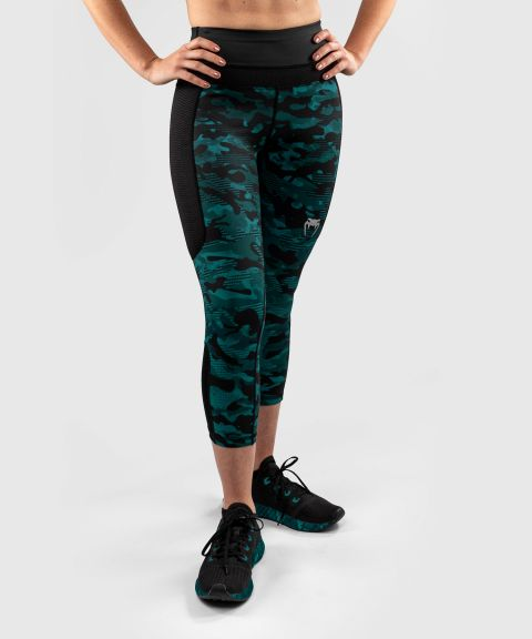 Venum Defender Crop Leggings - for women - Black/Green