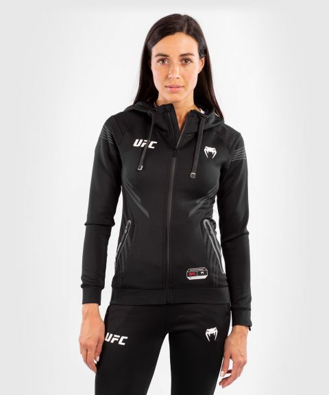 UFC Venum Authentic Fight Night Women's Walkout Hoodie - Black