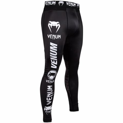 Venum Logos Compression Tights - Black/White