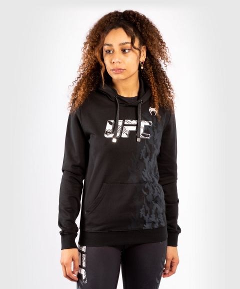 UFC Venum Authentic Fight Week Women's Pullover Hoodie - Black