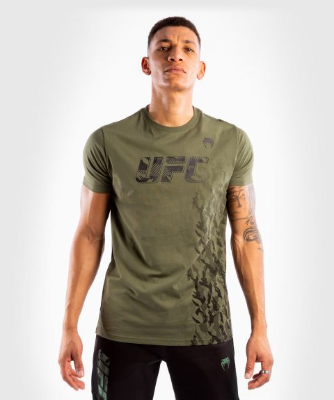 UFC Venum Authentic Fight Week Men's Short Sleeve T-shirt - Khaki