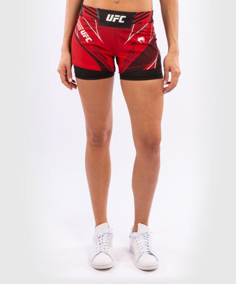 UFC Venum Authentic Fight Night Women's Shorts - Short Fit - Red