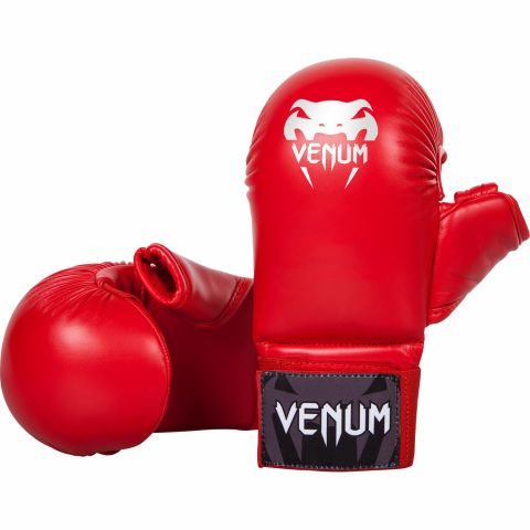 Venum Karate Mitts - With Thumb Protection - Red