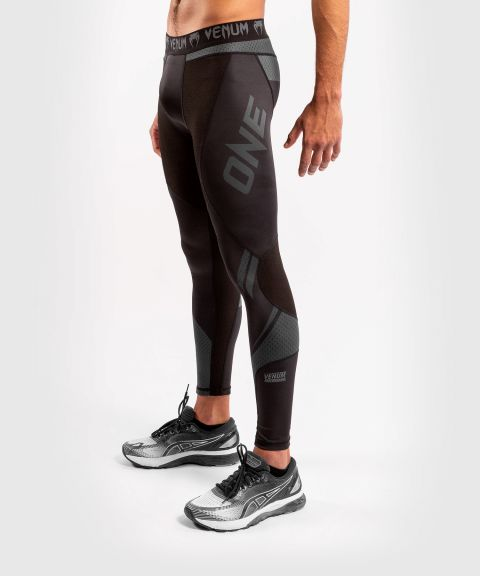 Venum ONE FC Impact Compression Tights - Black/Black