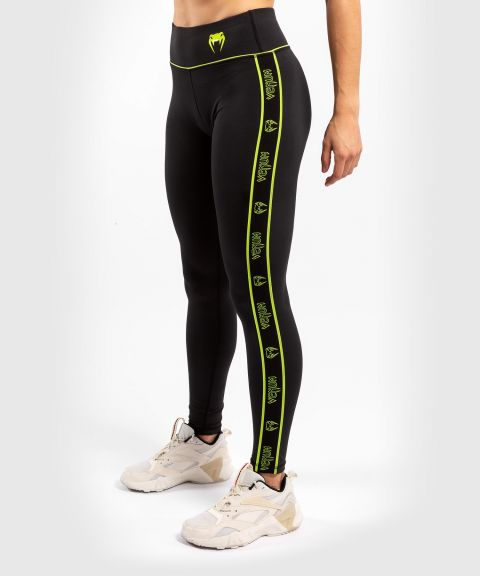 Venum Tecmo Leggings - For Women - Black/Neo Yellow