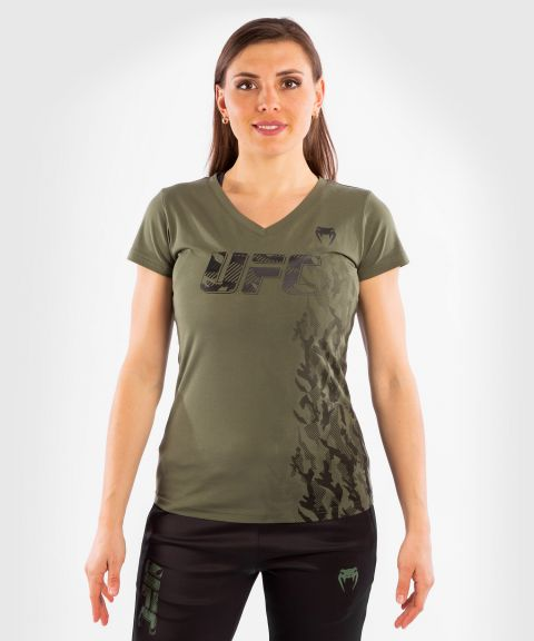 UFC Venum Authentic Fight Week Women's Short Sleeve T-shirt - Khaki