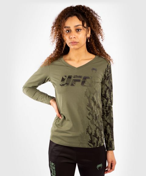 UFC Venum Authentic Fight Week Women's Long Sleeve T-shirt - Khaki