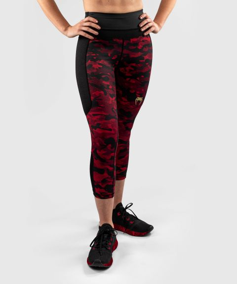 Venum Defender Crop Leggings - for women - Black/Red