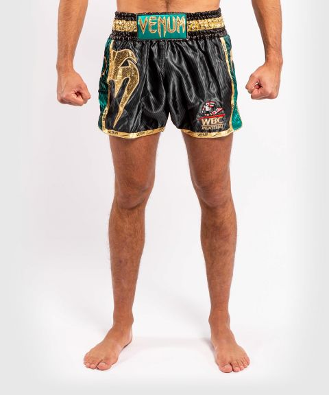 Venum WBC Muay Thai Shorts  - Black/Green
