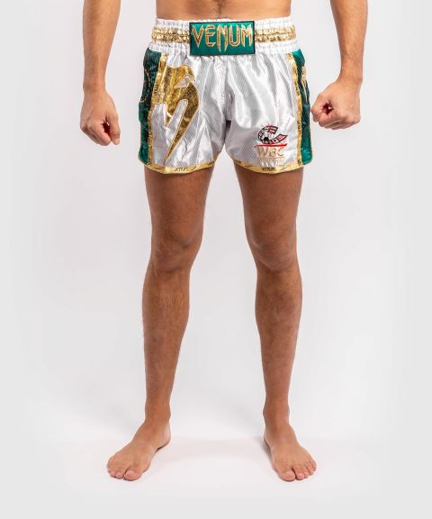 Venum WBC Muay Thai Shorts  - White/Green