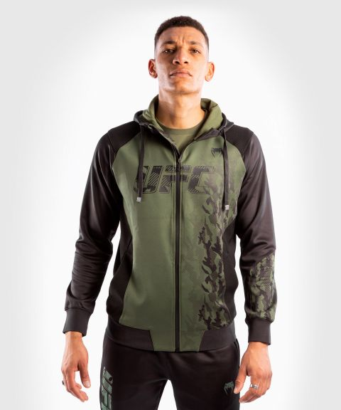 UFC Venum Authentic Fight Week Men's Zip Hoodie - Khaki