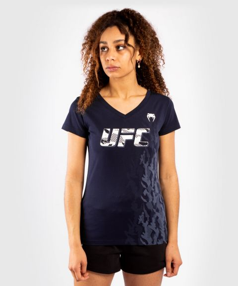 UFC Venum Authentic Fight Week Women's Short Sleeve T-shirt - Navy Blue
