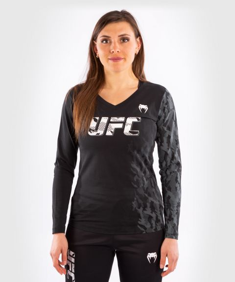 UFC Venum Authentic Fight Week Women's Long Sleeve T-shirt - Black