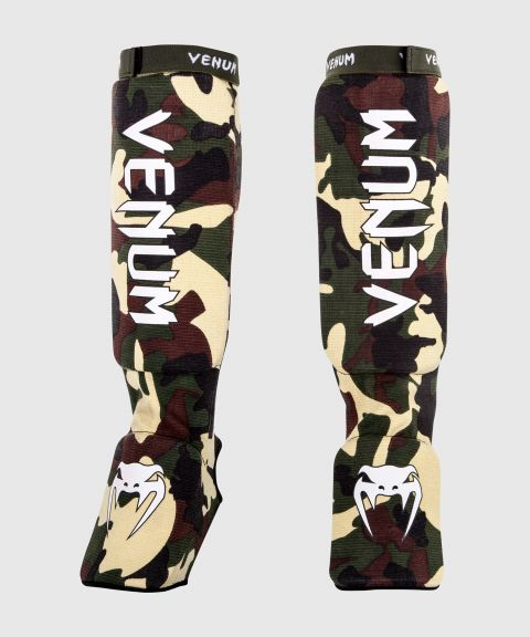 Venum Kontact Shin Guards - Forest Camo