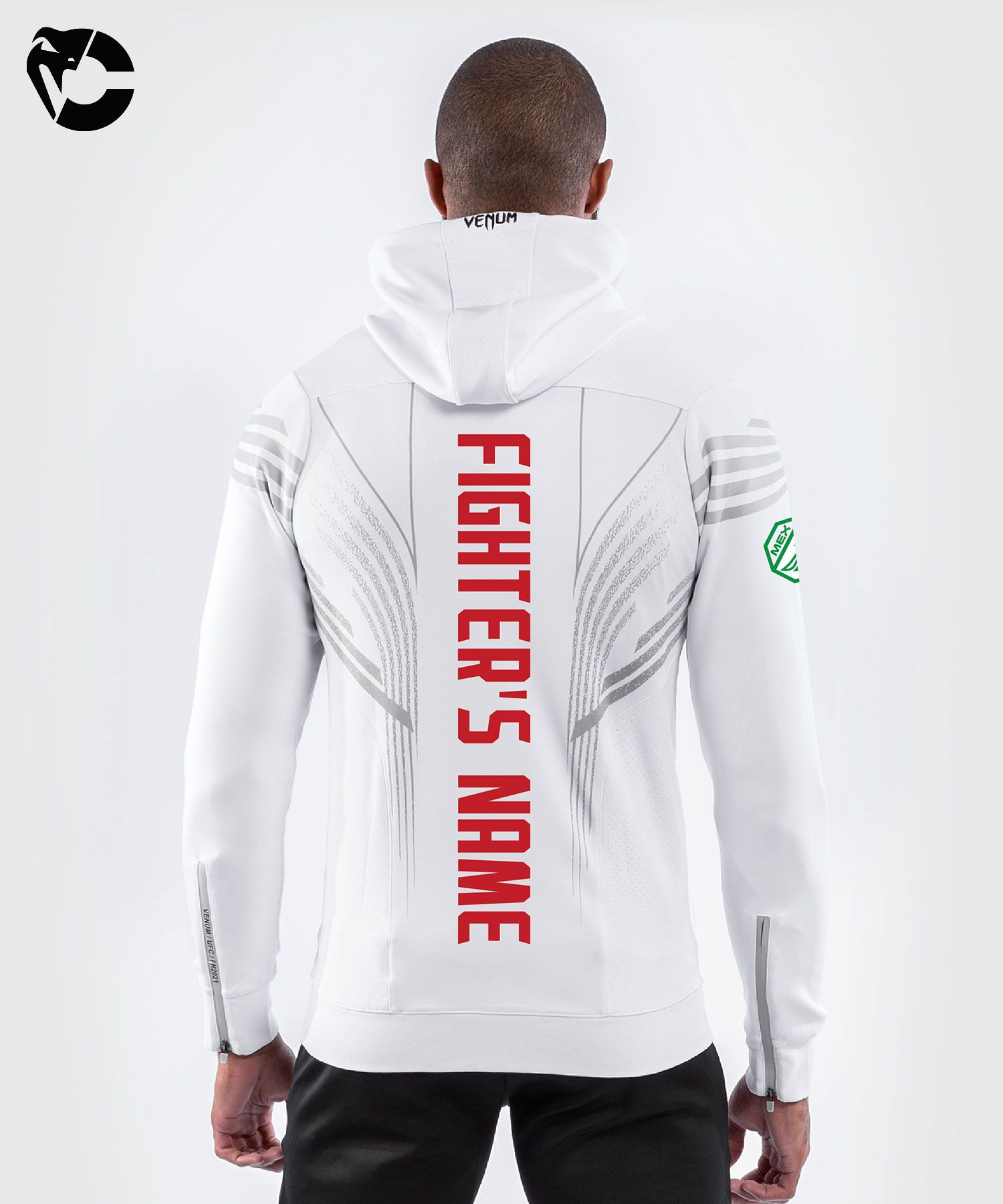 UFC Venum Fighters Authentic Fight Night Men's Walkout Hoodie - White